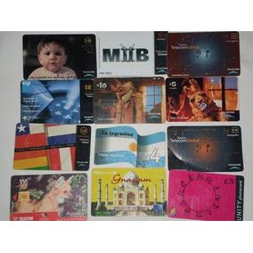 Lote De Cartões Telefônicos Internacionais