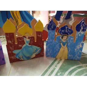 Castillos De Madera Centros Mesa Infantil Princesas Disney