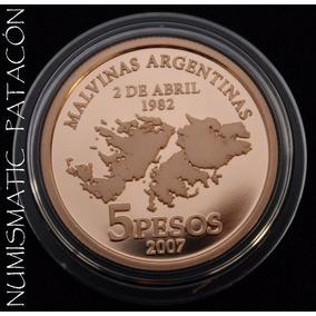 Moneda Oro Argentina 25 Aniversario Malvinas - Envío Gratis