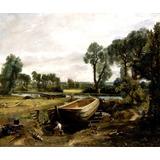Construção Canoa Mata Lago Pintor Van Gogh Na Tela Repro