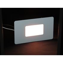 7x Luminárias Balizador Embutir Parede Escada Caixa 4x2