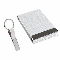 Set Oficina Porta Tarjetas Empresario Blanco Msi Con Envio