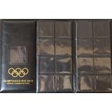 2(dois )álbum Para 17 Moedas Das Olimpíadas Rio 2016 -estojo