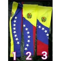 Mangas Deportivas De Béisbol, Con Bandera De Venezuela