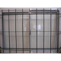 Ventanal Aluminio Blanco 180x150 Con Reja Reforzada