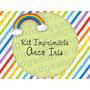 Kit Imprimible Arco Iris Rainbow Candybar Golsina Decoracion