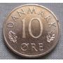 Dinamarca 10 Ore Año 1974 Moneda De Cuproníquel Km# 860.1 Xf