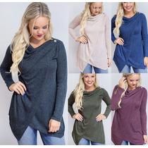 Moda Mujeres Señoras Tops Sexy Blusa Camisas Jersey Fondo