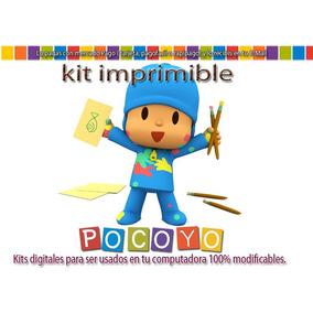 Kit Imprimible Candy Bar Pocoyo Tarjetas Cumple Y Mas