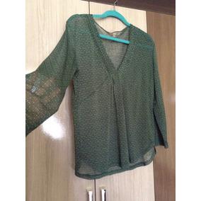 Blusa Verde Gasa Transparente