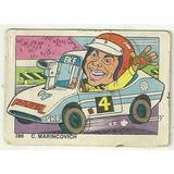 Figurita Futbol Caricatura 1976 C Marincovich Automovilismo