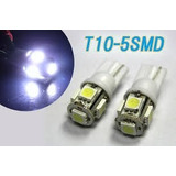 Pack 4 Lámparas T10 Con 5 Led Ultra Brillo Autos Y Motos 12v