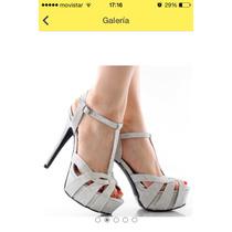 Sandalias Qupi Plateadas Elegantes
