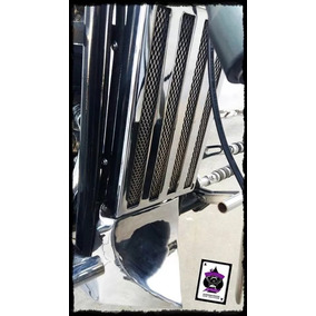 Quilla Y Cover Radiador Cromado Jawa Spyder/daytona