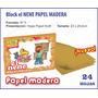 Block El Nene Papel Madera Kraft 24 Hojas Misionero
