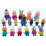 Peppa Pig Set Completo 19 Figuras Silicon Y Pvc