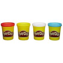 Plastilina Play-doh 4-pack De Colores 20oz - Rojo Amarillo,