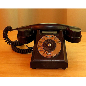 Teléfono Antiguo Ericsson Negro De Baquelita.