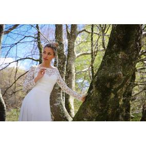Vestido De Novia Sencillos Hermosos Blanco Natural Largo