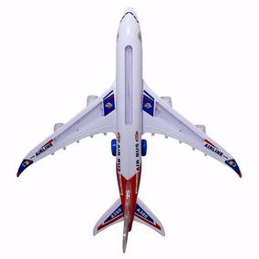 Avião De Brinquedo Luz Movimento E Som Air Bus A380 Colorido