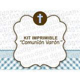 Kit Imprimible Comunión Varón Candybar Golsina Decoracion