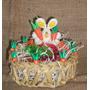 Canasta Para Pascua. Porcelana Fria Conejo Chocolates Pascua