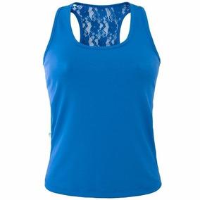 Roupas Blusas Camiseta Regata Com Renda Kit 3 Peças