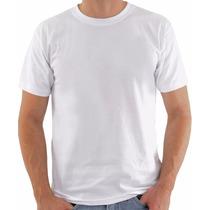 Camiseta Branca Lisa Básica Camisa Malha 100% Algodão