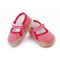 Zapatos Bebe Tela Acolchado Cosidos Comodos Niño Niña 12,5cm