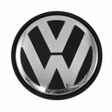 Calotinha Centro De Roda Vw Gol G5 Emblema Cromado 51mm