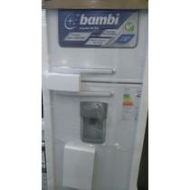 Heladera Con Dispenser Agua Bambi 2f1600d 328 L Blanca