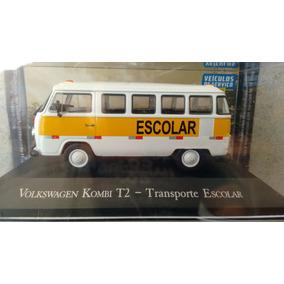 Carrinho Kombi Escolar Esc 1/43 Coleção Veículos De Serviços
