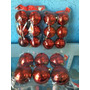 Kit Com 6 Bolas Vermelha De Natal Com 8 Cm