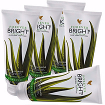 05 Gel Dental Forever Bright Babosa Aloe Vera S/ Flúor 130g