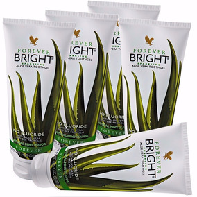 05 Gel Dental Forever Bright Babosa Aloe Vera S/ Flúor 130g