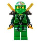 Lloyd Zx (ninja Verde) Con Dos Espadas De Oro - Lego Ninjag