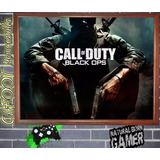 Call Of Duty Black Ops - Poster Enmarcado Listo Para Colgar