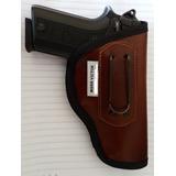 Coldre De Couro Para Pistola Taurus 380 - 938, E .40 24/7