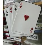 Adorno Pinche Torta - Naipes 4 Ases - Goma Eva 15 Cm X 17 Cm