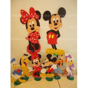 Kit Decoração Festa Enfeites Mickey Minnie 8peças Eva Mesa