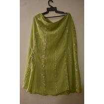 Vestido 2 Piezas Verde Falda Larga Disfraz Gitana Halloween