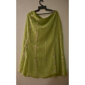 Vestido 2 Piezas Verde Falda Larga Tipo Gitana Fiesta Dia