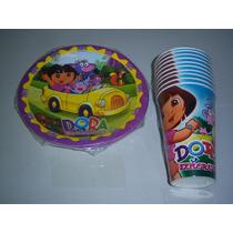 Platos Vasos Desechables Articulos Fiesta Dora Exploradora
