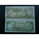 Costa Rica Billete 50 Colones Unc 1993