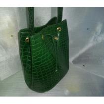 Cartera De Moda Dama Cuerina Italiana Verde Gran Calidad