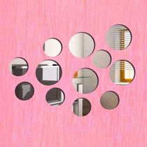 12 Espelhos Decorativos Redondos - Quarto Sala