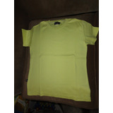 Remera Lisa Mujer Color Amarillo Talles S Y M