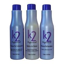 Escova Progressiva E Redutor De Volume K2 3 X 1l