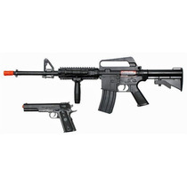 Combo Marcadora Airsoft Colt M4 A11 Spring Bbs 6mm Xtreme