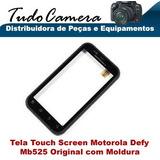 Tela Vidro Touch Screen Motorola Mb525 Mb520 Defy C/ Moldura